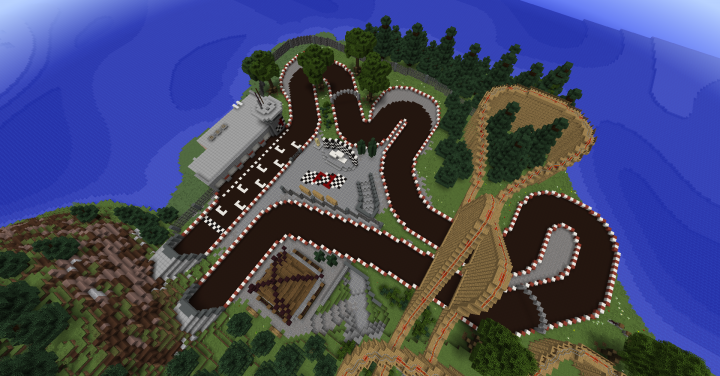 Race Track in the Japanese Theme