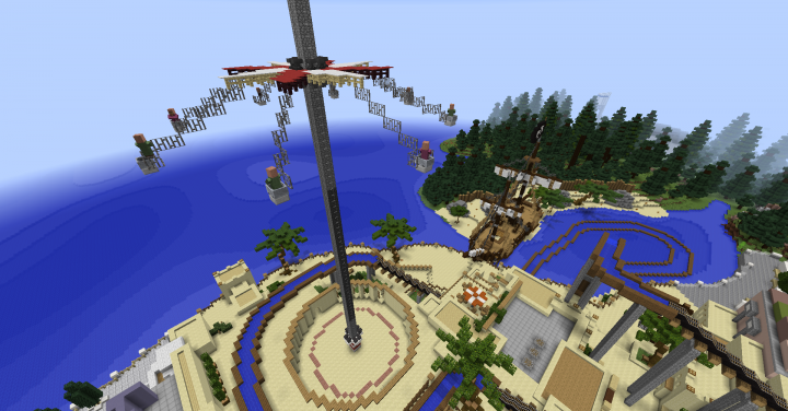 Flying Swing Tower in the Pirat Theme