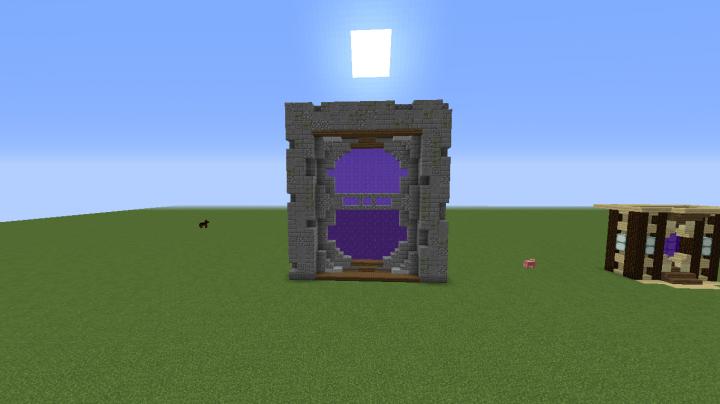 Nether portal designs minecraft project for Portale design