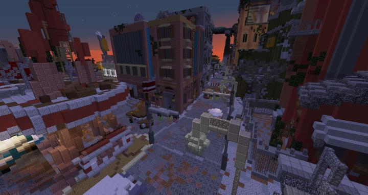 скачать карту для майнкрафт заброшенный город #6