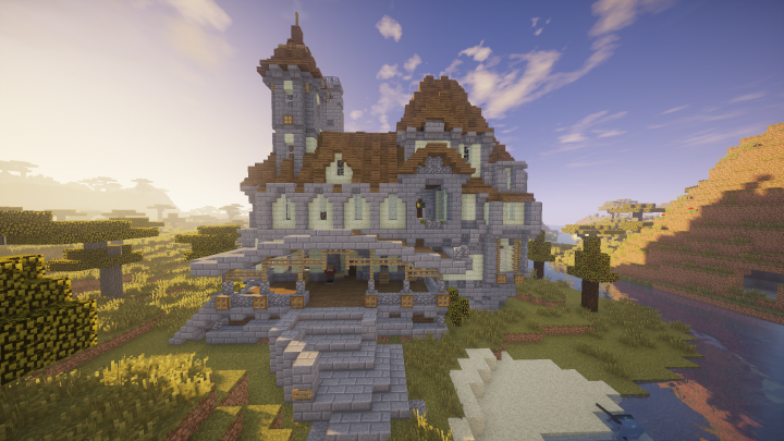 Minecraft huge mansion download - Minecraft
