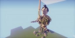 Statue de Guerrier Japonais/Samouraï. Minecraft Map & Project