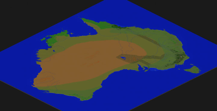 Australia in minecraft scaled 1240 minecraft project overviewer map of australia the streaks are the already explored areas gumiabroncs Choice Image