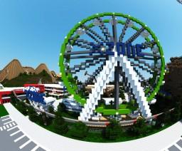 Realistic Amusement Park Minecraft Map & Project