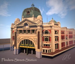 Flinders Street Station replication Minecraft Map & Project
