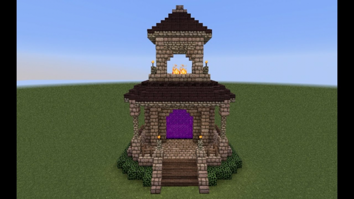 minecraft how to build the nether portal