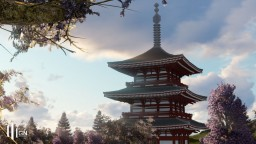[GN] Japanese three-storied pagoda ×2 Minecraft Project