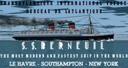 French ocean liner - SS Berneuil Minecraft Map & Project