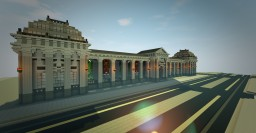 Neoclassical Colonnade Memorial Minecraft Project