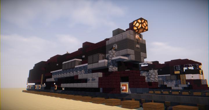 Penssylvania PRR K4s 4-6-2 Steam Locomotive Minecraft Project