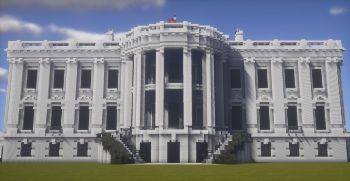 how to build the white house in minecraft pe