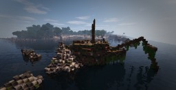 Epave Island preview of The Lands of Aegaeon #weareconquest Minecraft Project