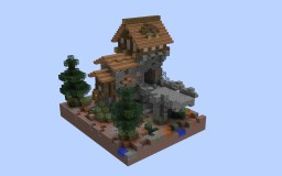 Realistic Medieval Bridge-House Minecraft Project