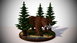 [Organic] - Bear With Fish. Minecraft Map & Project