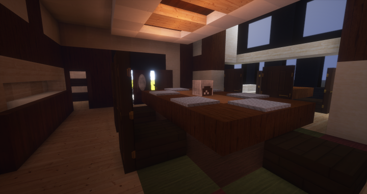 Frank lloyd wright boynton house minecraft project for Dining room minecraft