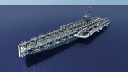 CVN-77 Geroge H. W. Bush - Nimitz class aircraft carrier Minecraft Project