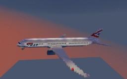 2:1 Scale Boeing 787-8 British Airways Minecraft Map & Project