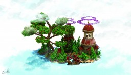 Colourful Island [Commission] Minecraft Map & Project