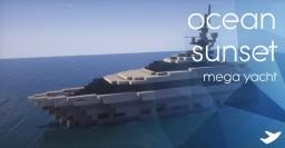 Mega Yacht - Ocean Sunset Minecraft Map & Project