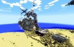 Crashed Arleigh Burke - Paracel Storm Minecraft Map & Project