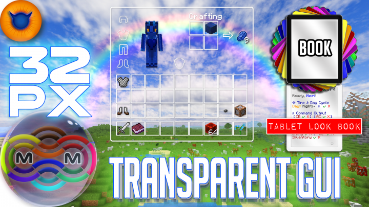 32px TRANSPARENT GUI with just an outline, COMPLETE GUI pack!
