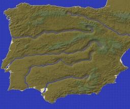 Iberian Peninsula (4096x4096) Minecraft Map & Project