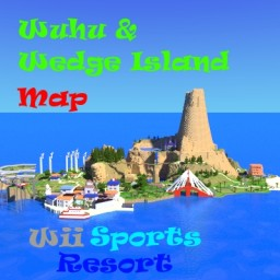 Wuhu Island Map - Wii Sports Resort Map + Wedge Island Minecraft