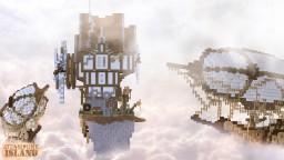 Steampunk island and airship