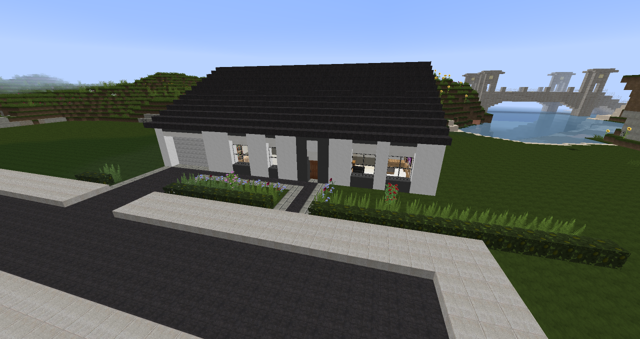 Petite maison plein pied minecraft project for Agencement maison plein pied