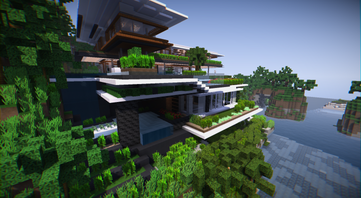 Xalima xalima - modern architectural concept house minecraft project