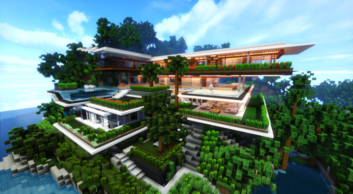 Xalima Modern Architectural Concept House Minecraft Project