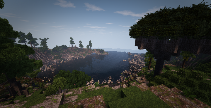 A look down on the cove, to the right a dragonblood tree