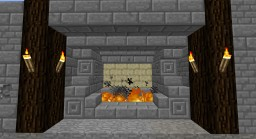 Hidden Portal Fireplace 1.11.2 Minecraft Map & Project