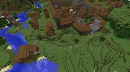 A medieval village Minecraft