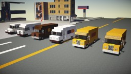 Mail Delivery Truck USPS UPS FedEx DHL Pack Minecraft Map & Project
