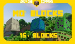 Mo' Blocks | Command Block Creation Minecraft Project