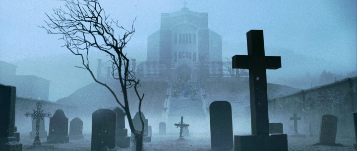 Church with graveyard - from the movie!