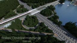 Realistic Cloverleaf Interchange - Republic of Union Islands Minecraft Map & Project
