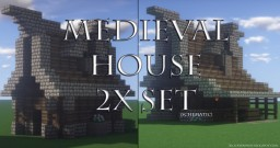 Medieval Houses [Small] (2x .schematic) Minecraft Project