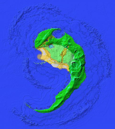 The uninhabited isle Epave