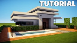 Minecraft: Small & Easy Modern House / Mansion Tutorial / How to Build + Interior