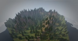 256x256 Pine forest Minecraft Map & Project