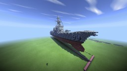 1:1 USS. Forrest R. Sherman DDG-98 Arleigh Burke class guided missile destroyer. Minecraft Map & Project