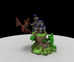 Castle and dragon Minecraft Map & Project