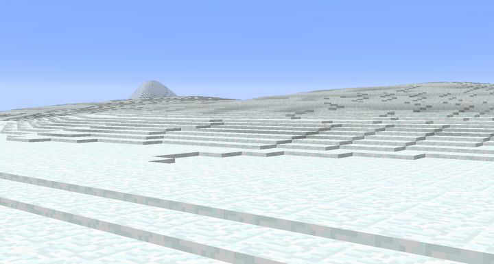 Smooth snow with smooth -s or build and erode layers with a heightmap br height -l