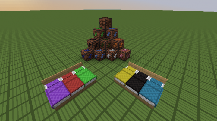 note blocks and beds