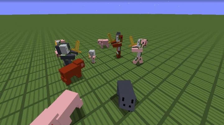 pigs and zombie pigmen