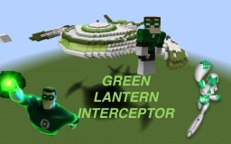 Green Lantern -the Interceptor Minecraft Map & Project