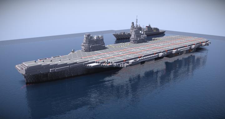Hms Queen Elizabeth Progress >> HMS Queen Elizabeth Minecraft Project