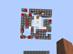 Minecraft 1 Wide 3x3 Center Glass Trapdoor (1.11.2) Minecraft Project